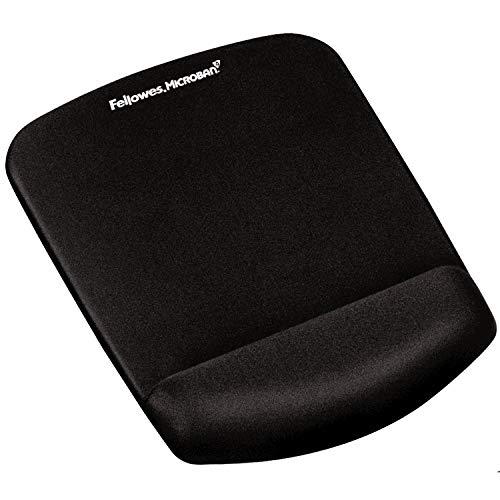 Fellowes ergonomisches Mauspad mit Handgelenkauflage PlushTouch™, super weiche Handballenauflage, Gel und Memoryfoam, schwarz