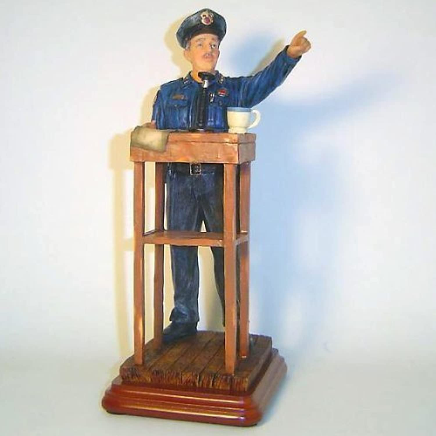 Beyond the Call   Policeman Statue Figure Morning Briefing