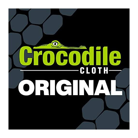 """Crocodile Cloth Industrial Cleaning Wipes - The Stronger Easier Way to Cut Through Grease, Oil, and Adhesives on Hands… 9 MORE EFFECTIVE, MORE VALUE: These giant 15"""" x 10"""" cloths are designed to scrub and absorb, meaning you need less wipes to clean the same mess. If you need more than one wipe for a mess you need to move on to Crocodile Cloth DON'T JUST CLEAN. ATTACK: Designed to dissolve and absorb grease, oil, paint, ink, caulk, glue, and automotive messes in real work environments. Our wipes stay moist longer and feature a super tough heavy-duty build HAND SAFE: Our wipes are dermatologically tested and infused with aloe and vitamin E to be safe for hands while eating through grease and oil. Every disposable cloth will stay wet outside the package for over an hour."""