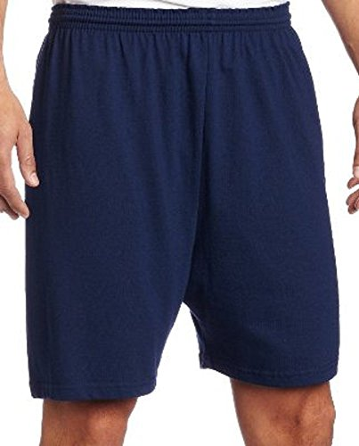 Soffe mens 6 Inch Jersey Shorts, Navy, Large