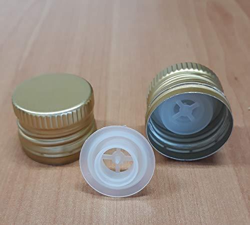 3DCompany 50 Tappi prefilettati 31,5x24 con salvagoccia per Bottiglie marasca Olio