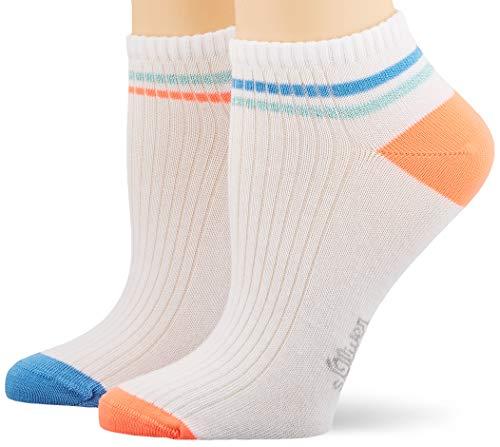 s.Oliver Socks S24167 Calcetines cortos, Azul (parisian blue 5454), 39/42 EU (Pack de 2) para Mujer