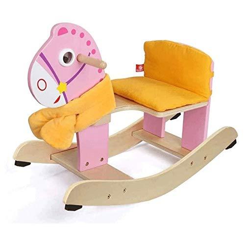 XWX Children's Rocking Horse Umweltschutz Massivholz Puzzle Frühe Bildung Baby Geburtstag Geschenk Spielzeug