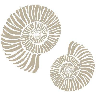 TODO-STENCIL Mini Deco Fondo 060 Caracolas. Medidas aproximadas: Medida Exterior 12 x 12 cm Medida del diseño:9 x 9 cm