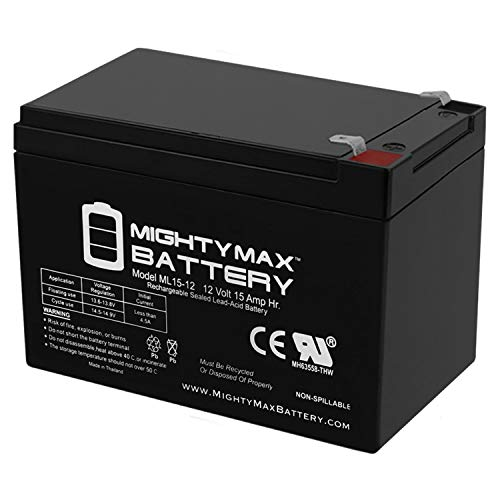 ML15-12 - 12V 15AH SLA Battery - Mighty Max Battery Brand Product, 1 Pack