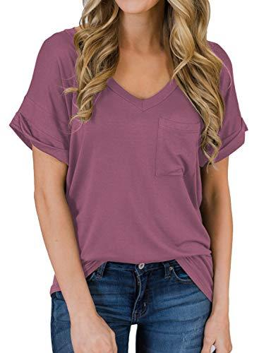MIHOLL Women's Short Sleeve V-Neck …