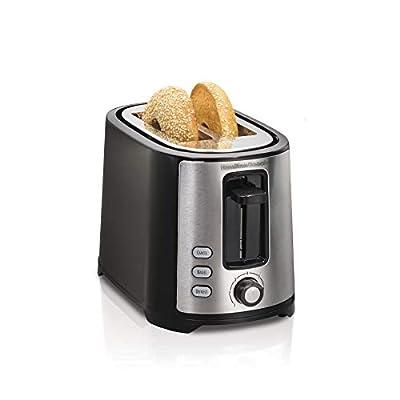 Hamilton Beach 2 Slice Extra Wide Slot Toaster with Shade Selector, Toast Boost, Auto Shutoff, Black (22633)