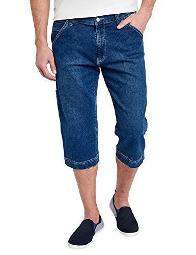 Pioneer Herren 3-Quarter MEGAFLEX Shorts, Blau (Stone Used 06), 31