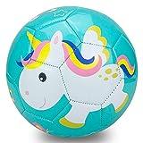Champhox Kinder Fußball Ball mit Pumpe, Kinder-Sportball, Cartoon-Design, Kleinkinder, Freizeitball für drinnen und draußen, Ball für Kinder, Kleinkinder, Mädchen, Jungen, Kinder (Unicorn, Size 1)