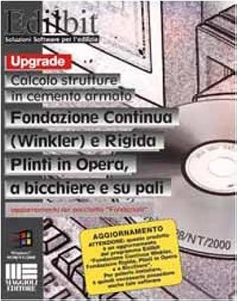 Fondazione continua (winkler) e rigida. Plinti in opera a bicchiere e su pali. CD-ROM