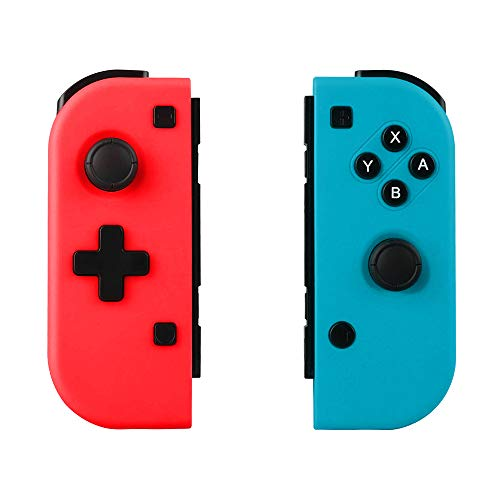 Winkeyes Nintendo Switch Joy-Con Controller Mini Switch Controller Joy Con (L/R) Wireless Pro Game Controller Gamepad Joypad Joystick Compatible with Nintendo Switch, Blue&Red