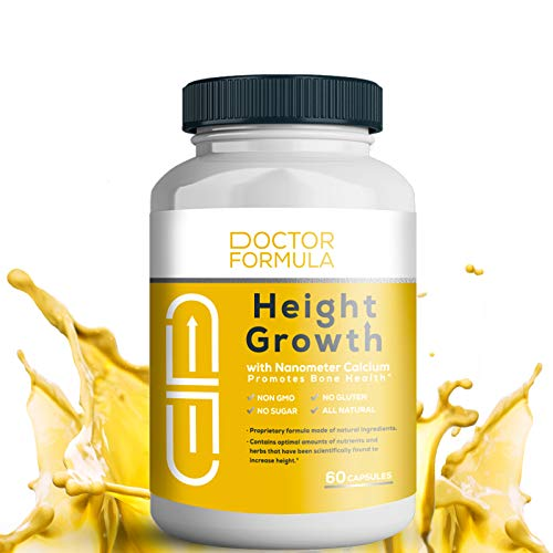 Doctor Plus - Height Growth Formula (60 Ct) Grow Taller Supplement - Made in USA - Doctor Recommended - Height Maximizer - Supplement for Natural Bone Growth - Height Pill Supplement