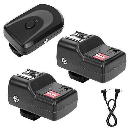 Deror Disparador de Flash inalámbrico de 16 Canales con 1 transmisor +...