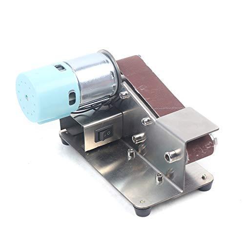 7 Gears Adjustable Stainless Steel DIY Mini Belt Sander Knife Apex Edge Sharpener Polishing Grinding Machine 33030mm Belts Grinder 110-220v 100W best (895 Motor)