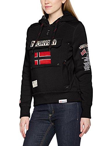 Geographical Norway Damen Kapuzenpullover Gymclass Lady Assort A, Schwarz (Black), Large (Herstellergröße: 3)