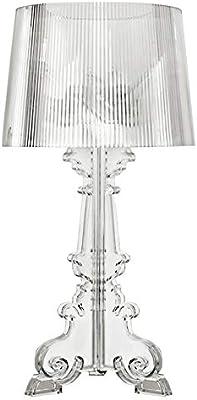 Lampade da scrivania a LED LED camera da letto lampada da letto soggiorno lampada da tavolo acrilico lampada da comodino ombra lampada da tavolo notte (nero) Lampade da scrivania