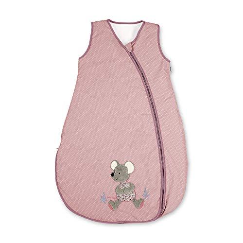 Sterntaler Sommer-Schlafsack für Kleinkinder, Maus Mabel, Reißverschluss, Größe: 90 cm, Rosa
