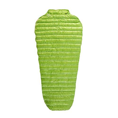 hhxiao Outdoor slaapzak 200 * 86cm Slaapzak Gans Down Mummy Outdoor Camping Verlengd Volwassen Nylon Lente Luie Tas