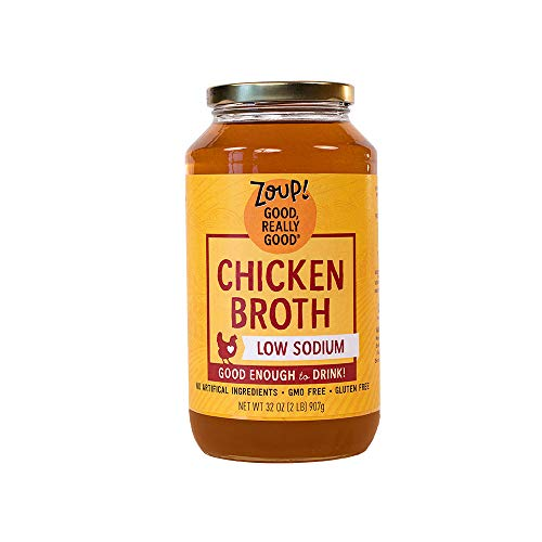Zoup! by - Gluten Free, Non GMO, Fat Free, (1-Pack), Low Sodium Chicken Broth, 31 Ounce