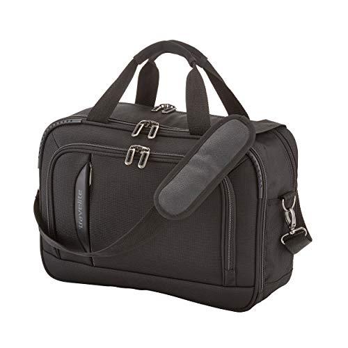 travelite Handgepäck Bordtasche mit Laptopfach + Aufsteckfunktion, Gepäck Serie CROSSLITE: Robuste Weichgepäck Reisetasche im Business Look, 089504-01, 42 cm, 21 Liter, schwarz