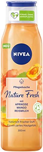 NIVEA Nature Fresh Pflegedusche Aprikose (300 ml), sanft reinigendes Duschgel mit einer Formel ohne Mikroplastik, vegane Duschpflege mit fruchtigem Duft