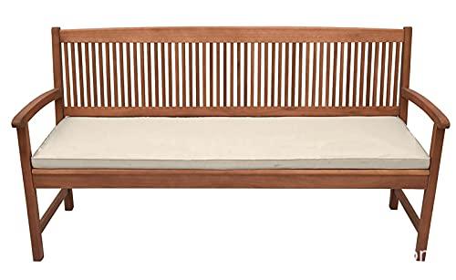 YuYiY Cojín de espuma impermeable de 5 cm de grosor, rectangular, para silla, sofá, interior y exterior, cojín de 2 – 3 plazas (Kahki, 120 x 42 x 5 cm)