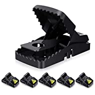 Baban Mouse Trap 6 PK, Rat Trap with 100% Catch Rate, Easy Set-up & Cleaning, Safe & Effective for Indoor & Outdoor, Reusable Humane Rodent Trap