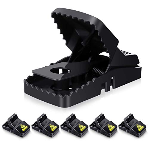 Baban Mouse Traps of 6, BIG Size Rat Trap 100% Catch Rate, For Indoor & Outdoor, No Touch Easy Set-up & Easy Cleanning, Sensitive & Effective No Pain Humane Rodent Trap