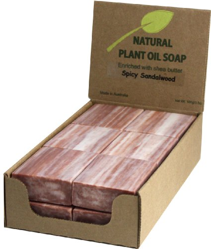 Sandalwood Natural Soap (12 Bars)