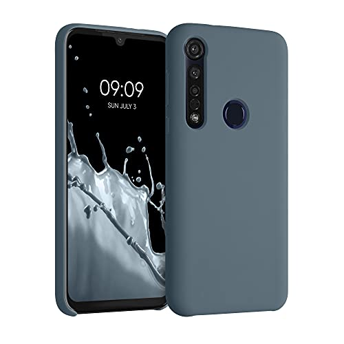 kwmobile Hülle kompatibel mit Motorola Moto G8 Plus - Hülle Silikon gummiert - Handyhülle - Handy Hülle in Slate Gray
