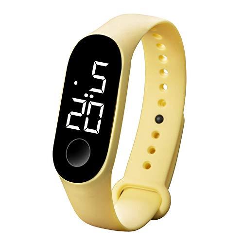 Coconano Reloj Deportivo Reloj Electrónico Led 50m Reloj De Moda Para Hombre y Mujer a Prueba De Agua