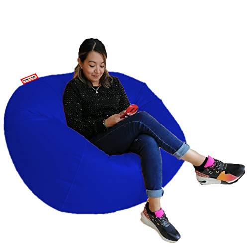 Sillon Puff Esfera Jumbo Color Azul Rey 110cm de diametro