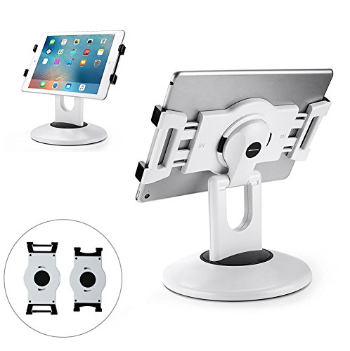 AboveTEK Retail Kiosk Stand per tablet, supporto per tablet a rotazione professionale a 360 °, 6-13,5' Mini Pro Supporto per tablet business, Girevole per negozio POS Ufficio Cucina Desktop (bianca)