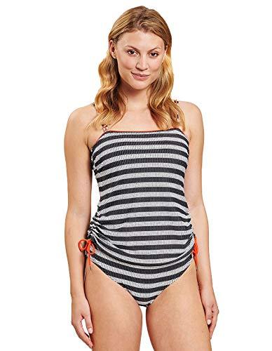 Rösch Damen Tankini im Tupfenringel - Twisted Lines, Beach, 1205514 46 D D Ringlet Black