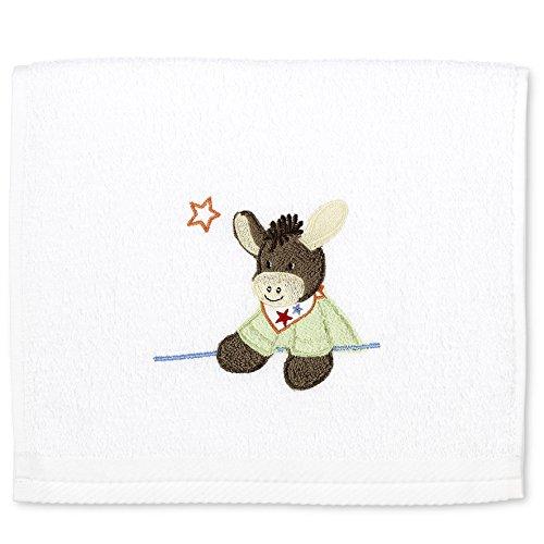 Sterntaler Serviette pour enfants Emmi, Âge: à partir de 0 Mois, 30 x 50 cm, Blanc