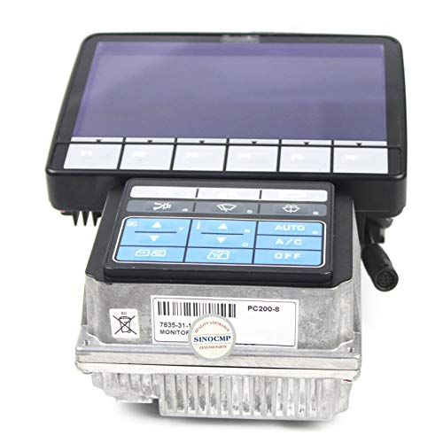SINOCMP 7835-31-1009 Monitor per Komatsu PC200-8 PC200LC-8 Escavatore Parti,6 mesi di garanzia