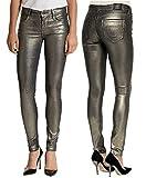 True Religion Women's Halle Mid-Rise Super-Skinny Jean,Gunmetal,25