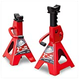 Jack Boss Car Jack Stands Low Profile 2 Ton 4,000 Lbs Capacity Steel Car Lifting Stand Adjustable Jack Stand for SUV MPV Truck RV 1 Pair