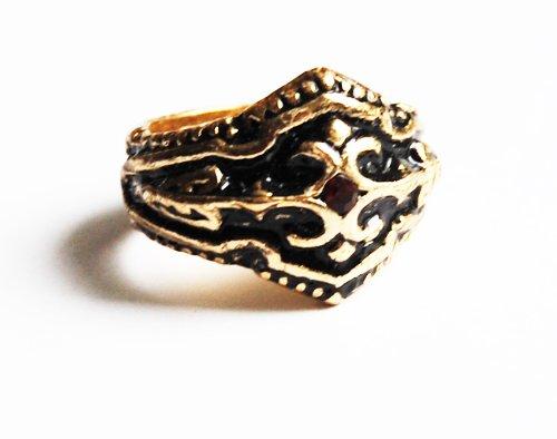 Esoterik-Versand Ring Drachenblut, vergoldet, Ø 20 mm