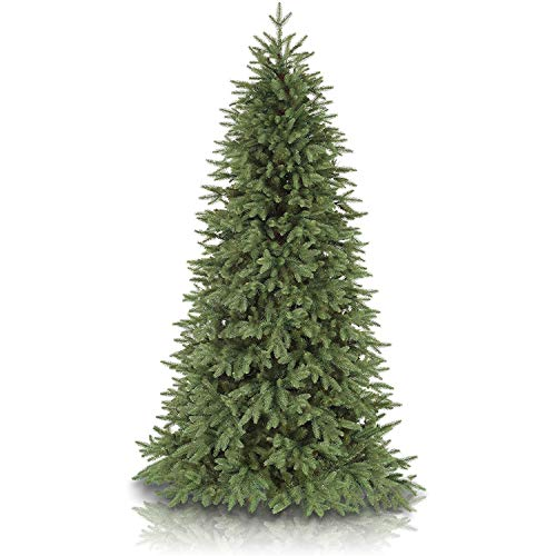 Balsam Hill 6.5ft Premium Unlit Artificial Christmas Tree Stratford Spruce with Storage Bag, and Fluffing Gloves