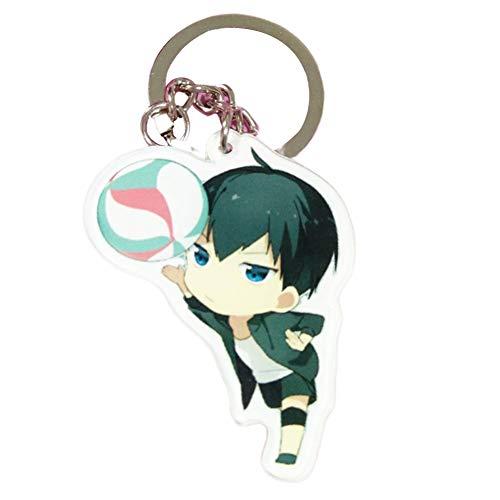 SGOT Anime Haikyuu Schlüsselanhänger, evebel Acryl Anhänger, Kageyama Tobio / Hinata Shoyo Keyring, Dekoration für Anime Lovers( Style 04)