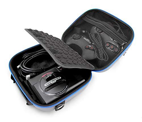 Casematix Travel Case Compatible with Sega Genesis Mini 2019 and Accessories , Includes Shoulder Strap