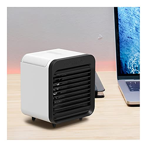 Air Cooler Portable Portable Air Cooler, Personal Air Cooler with 3 Speeds Personal Air Conditioner Dual Battery Intelligent Control Wind Rapid Cooling Noiseless Evaporative Air Fan, for Home, Office,