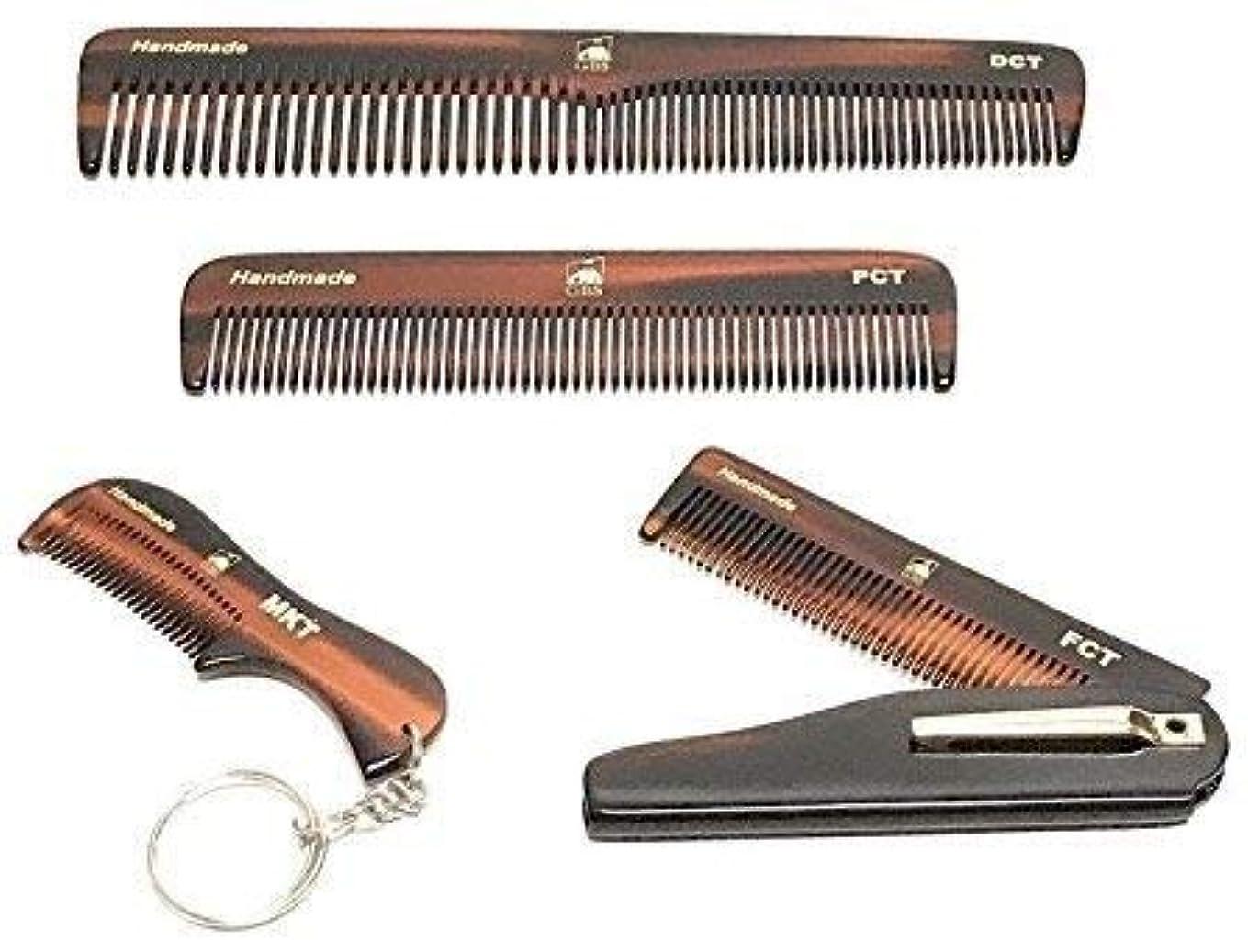 故意の明日ファウルGBS Handmade Styling Anti-Static No Snag Saw-cut Teeth Grooming Hair and Beard Comb Set - For Mens Care - Dressing Head Comb, All Purpose Folding Comb, Pocket Comb, Mustache Comb Styles Women brush [並行輸入品]