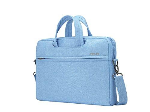 Asus EOS Tasche (bis zu 12 Zoll, gepolstert, viele Taschen und Fächer, für Notebook) hellblau