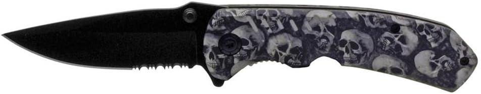 TarrKenn BF016720-GRB Spring Assist Folding Skull Knife Camo 4 Finally resale start safety