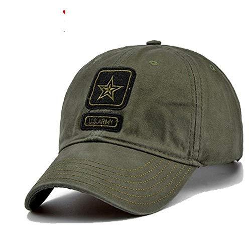 lwzxzq Gorra de Pentagrama Gorra Militar Gorra de Pesca de Caza Gorra de béisbol de Camuflaje al Aire Libre-Verde_Ajustable
