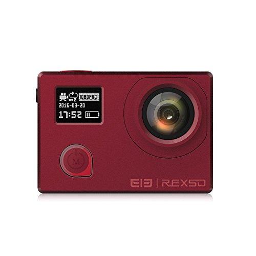 Elephone Action Cam REXSO Explorer X 4K 30fps Impermeabile IP68 WIFI Sport Action Camera Full HD 16MP 170°Grandangolare con il schermo LCD 2.0 Pollici Rosso