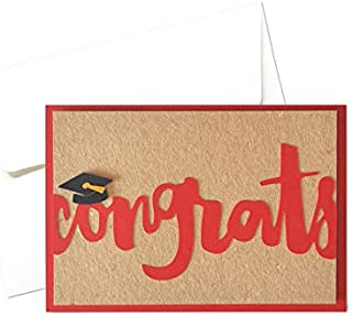 Congrats - Laurea - congratulazioni - biglietto d'auguri (formato 10,5 x 15 cm) - vuoto all'interno, ideale per il tuo mes...