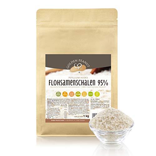 Preisvergleich Produktbild FLOHSAMENSCHALEN 95 prozentige Reinheit / hohe Quellzahl / getestet / allergenfrei / glutenfrei / Vegan / keimreduziert / Low-Carb / 1000 g,  1 kg